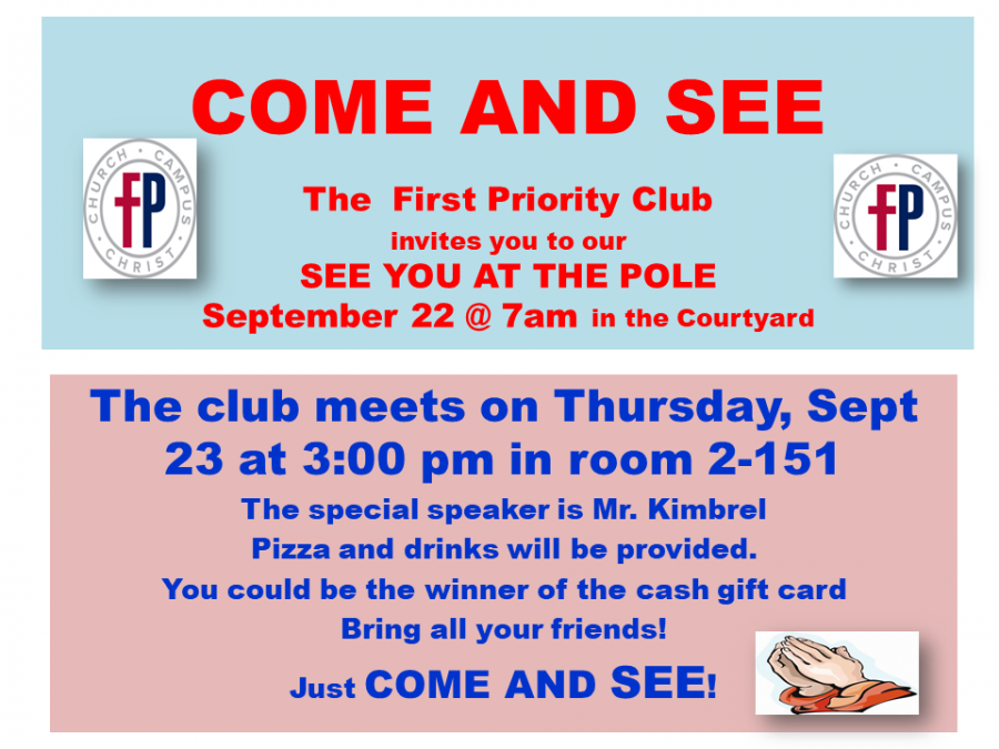 First Priority Club--COME AND SEE!